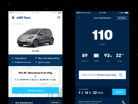 eMii Car Sharing Concept modern navigation barcelona android ios city sharing electric car mobile app design ux ui