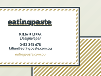 Eating Paste Logo & Business Card