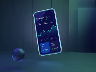 Market app blender market stock motion graphics animation 3d