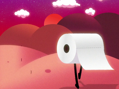 Toilet Paper - Our Hero! 2d animation 2d heroes sound coronavirus corona virus covid 19 covid19 hero walk walk cycle walkcycle motion design motiongraphics motion animation toilet toilet paper toiletpaper
