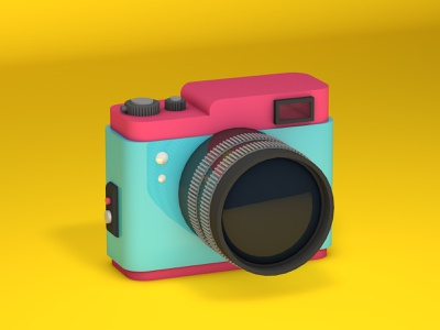 Camera cartoon graphic design isometric illustration isometric design isometric art c4d illustration c4d cinema4d simple 3d art 3d isometric colorful eye candy photographer photography photo cameras camera