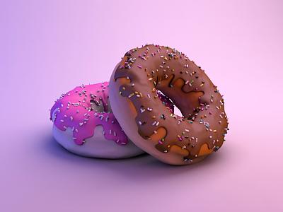 Donut Time! doughnuts sweet creamy cream taste pink c4dart isometric art isometric c4d cinema4d modeling 3d modeling 3d art 3d illustration 3d illustration donut illustration donut shop donut