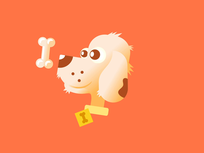 Hungry Doggo adobe aftereffects animation after effects animation 2d animation animals dogs rotating funny simple cartoon 2d doggy dog illustration waiting bone hungry dog animation doggo dog