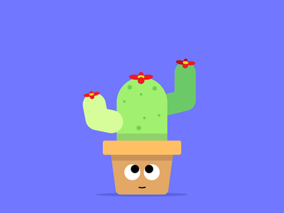 Happy Cacto sticker icon cartoon fun wiggle eyes bounce jump happy 2d animation 2d flat simple motion graphic motiongraphics motion animation cactus animation cactus illustration cactus