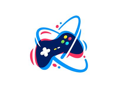 Gamepad buttons abstract artwork geek gameplay playstation joystick lines play games game logodesign logo illustration game app gamepad