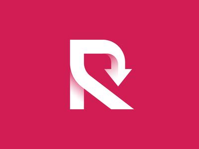 Refreshh Logo gradient logo recycle brand branding simple adobe gradient unique symbol icon 3d arrow new refreshing refresh r logo letter logo alphabet logo design logo