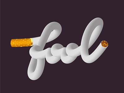 Fool lettering logo lettering art letters gradient design smoker smoking vector fool lighter smoke simple typograph creative typography lettering gradient design illustration cigarettes cigarette