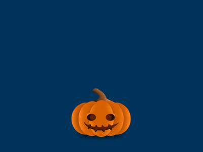 Spooky Pumpkin dribbbleweeklywarmup pumpkin animation spooky smile shadow scary motiongraphics after effects motion graphics loop illustration holiday happy halloween halloween design halloween glow bounce animation bounce animation after effect pumkin