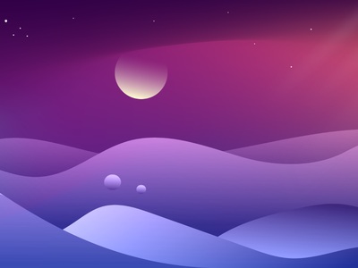 Landscape on the other planet vibrant view art unique bubbles sky illustration gradient illustration gradient moon stars sky alien planet mountain illustration mountains mountain landscape design landscape illustration landscapes landscape