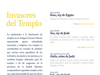 Invasores Del Templo gospel typography design illustration