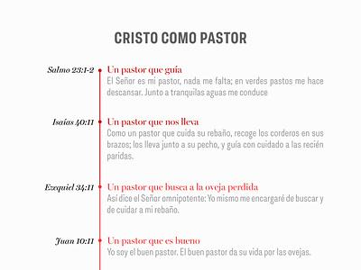 Cristo Como Pastor flat design gospel illustration typography