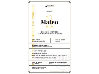 Mateo vector gospel typography illustration design