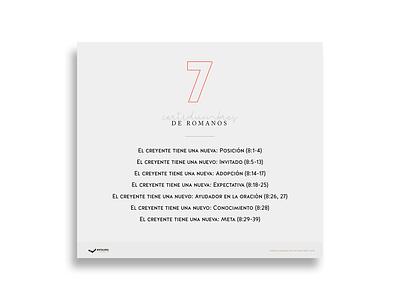 Infografía: 7 certidumbres del libro de Romanos bible direction art creative illustration flat gospel design