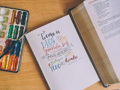 Versículos bible design watercolor typography creative gospel design