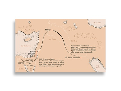 Mapa: Viajes de Abraham