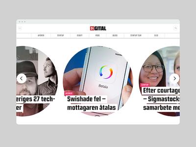 Di-gital highlights section web design design ux ui