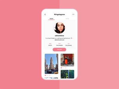 User profile – Daily UI #006 instagram profile ux ui dailyui