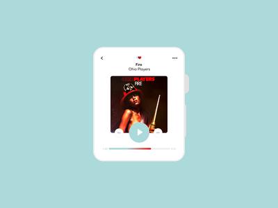 Music player – Daily UI #009 music music player apple watch ui dailyui