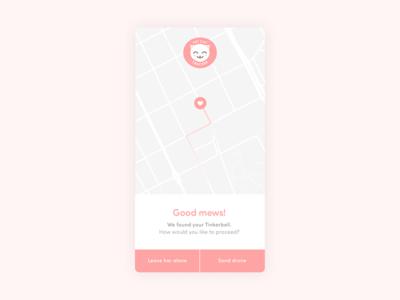 Location tracker – Daily UI #020 map cat location ui dailyui