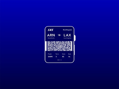 Boarding pass – Daily UI #024 ticket airplane apple watch ui dailyui