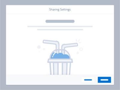Sharing Illustration background slurpy cup straw modal illustration spot sharing