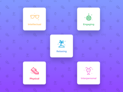 App Icons iphone x purple pattern glasses disco shoe shake categories design system shading icons highlight