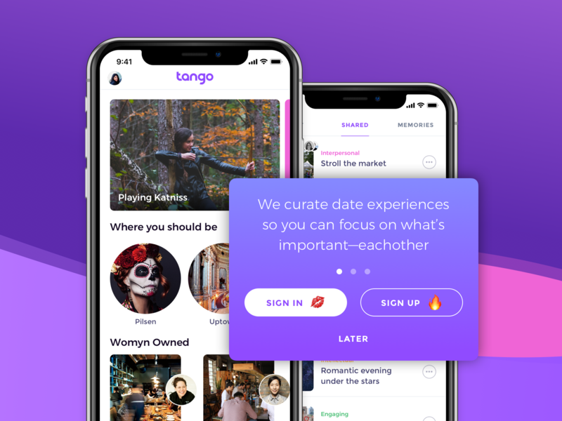 App Delayed Sign Up walkthrough iphonex button emoji pill icons categories tabs list discovery prompt login home screen signin signup delayed ios app ui ux