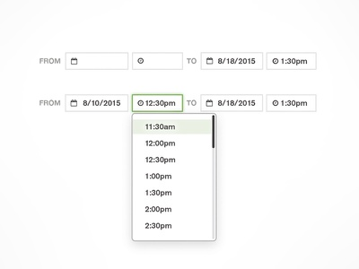 Date/Time Picker Component component ui picker time date