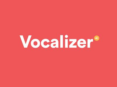 Vocalizer Logo sans-serif icon geometric typeface logo