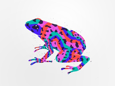 Poison Frog character animal animal print poison trip psychedelic textile frog illustration texture pattern