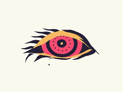 Hypnotic Eye eyes concentric circles pattern red eyes psychedelic anatomy eye hypnotic illustration trippy