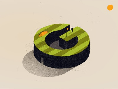 G jose berrio 36 days of type typography type lettering isometric illustration golf g
