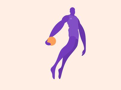 Vince Carter for Life 🏀 dunk vinsanity vc vince carter figure nba basketball minimal graphic design illustration design