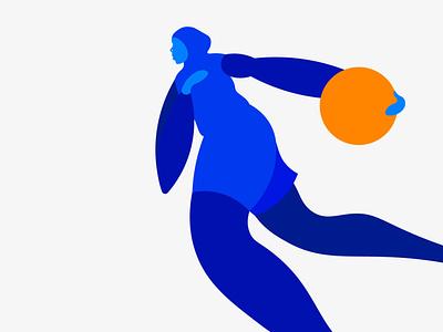 Bilqis Abdul-Qaadir 🏀 figure fiba black hijab islam basketball vector colors graphic design minimal illustration design