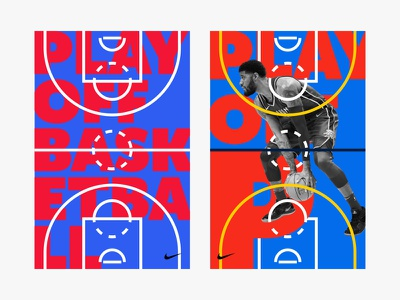 Playoff Basketball playoff p paul george minimalism design poster typography dribbble nba basketball nba basketball nike basketball nike