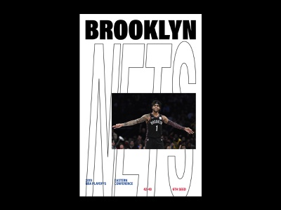 Brooklyn Nets Playoff 🏀 basket typography minimal nets brooklyn design dribbble playoffs basketball nba