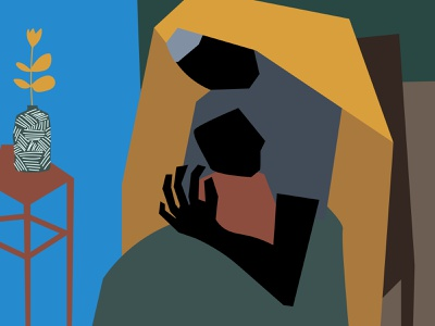 🖤 of a Mother and Child jacob lawrence african american design child mother art black creative colors minimal cubist illustration