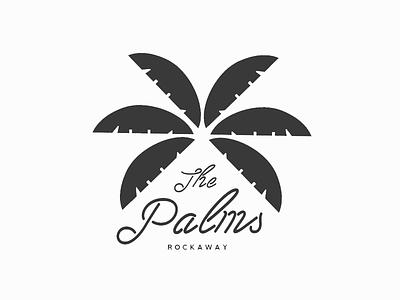 The Palms: Rockaway jungle tropical neon luxury rockaway new york palm tree palm branding identity brand logo