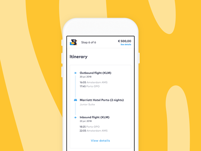 Itinerary Design mobile ui itinerary travel
