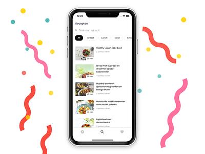 Vegan Vibes app recipe app product design ui ux apple react react native app
