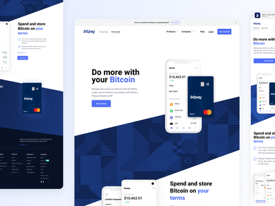 BitPay Website - Personal Tab website bitpay bitcoin