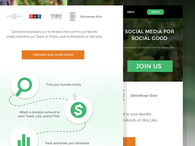 Centcere - Home page redesign centcere charitable charity
