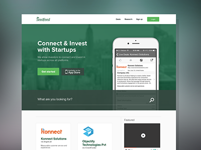 Seedfeed Home  search