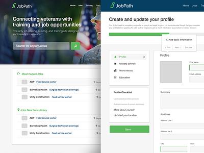 Jobpath 2.0 Mockups design ui uiux re-design jobpath profile clevertech jobs
