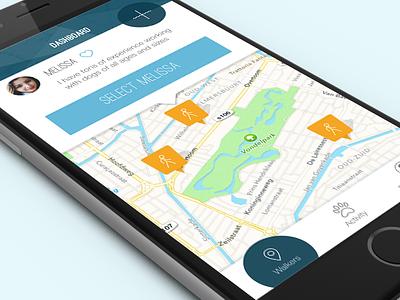 GO-Oscar App Dash go-oscar app ui dashboard ios dog walk walking