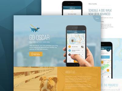 Go-Oscar Landing page landing page single one design ui ux go-oscar modern flat mobile promo