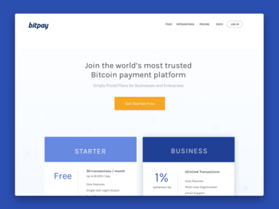 Bitpay - Pricing pricing table cta redesign chart pricing bitcoin bitpay ux ui