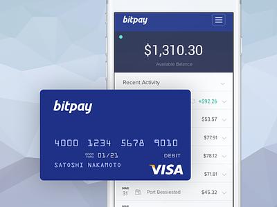 BitPay Debit Card spend money wallet bitpay card debit visa bitcoin