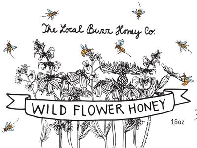 label for wild flower honey