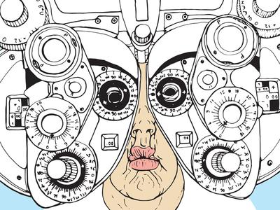 at eye doctor